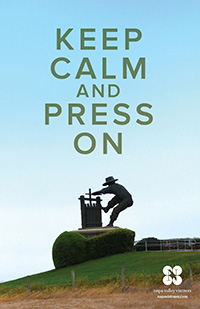 Keep Calm and Press On Poster