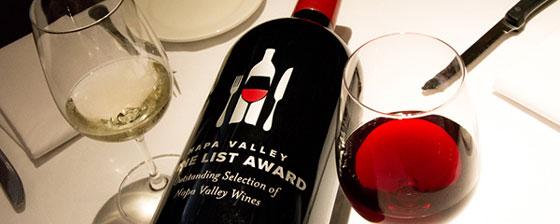 Napa Valley Wine List Awards
