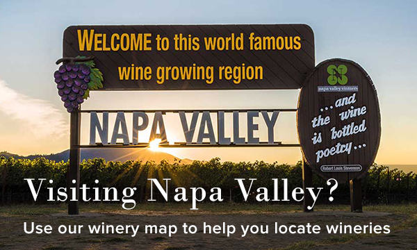 Visiting Napa Valley/ Use our winery map to help you locate wineries