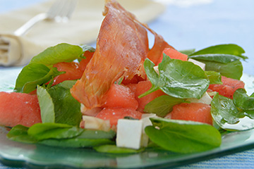 Watermelon and Watercress Salad with Ricotta Salata